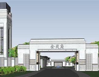 新中式售楼处建筑