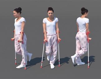 现代女人体模型3D模型下载