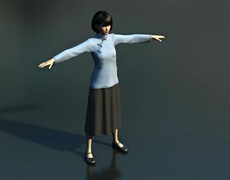 现代女人物模型3D模型下载