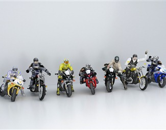 现代公路摩托车3D模型下载