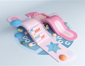 现代儿童娱乐设备3D模型下载