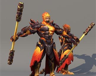 现代游戏角色组合3D模型下载