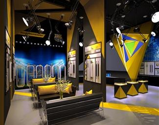 工业LOFT展厅空间3D模型下载