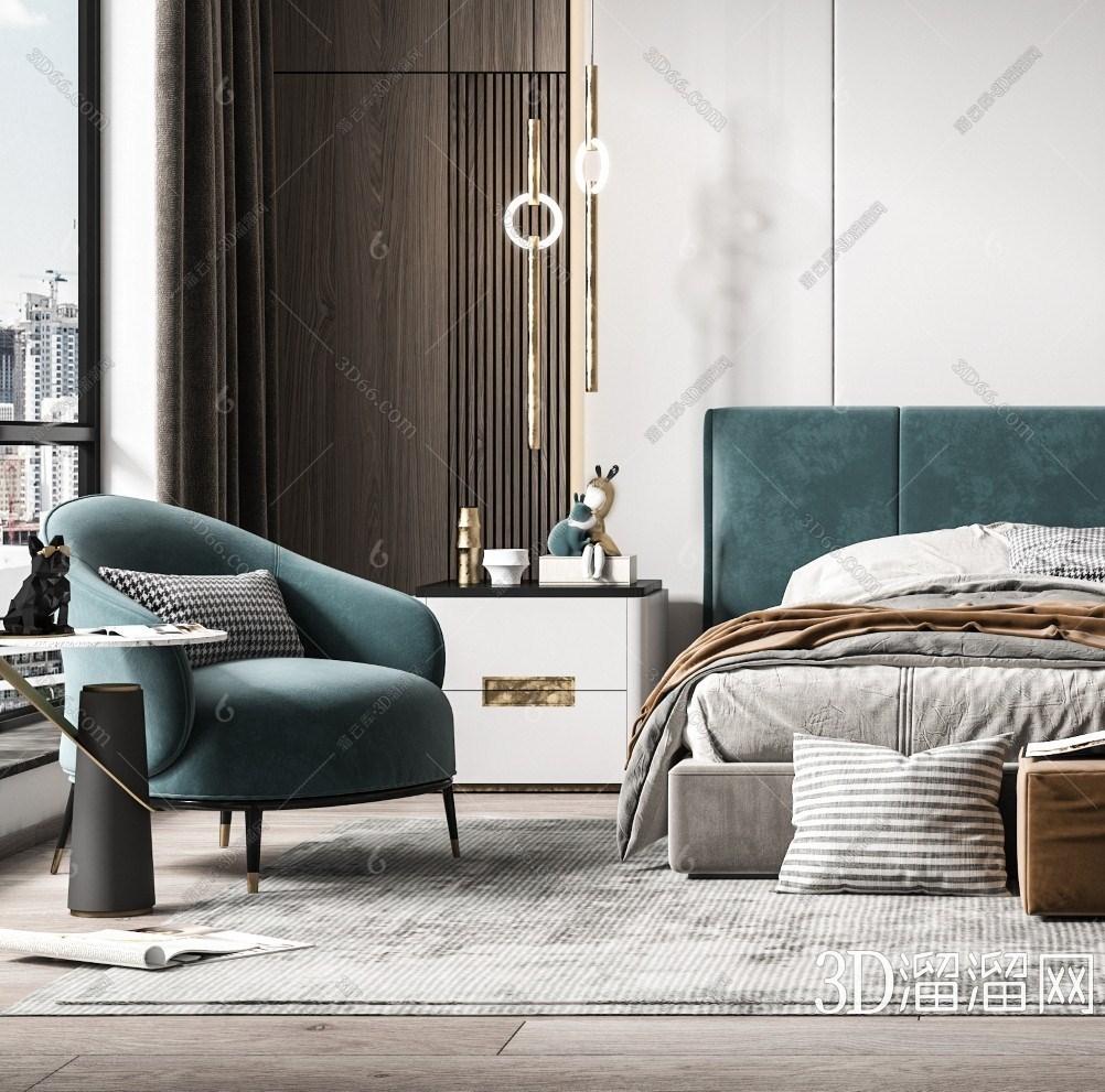 轻奢卧室3D模型