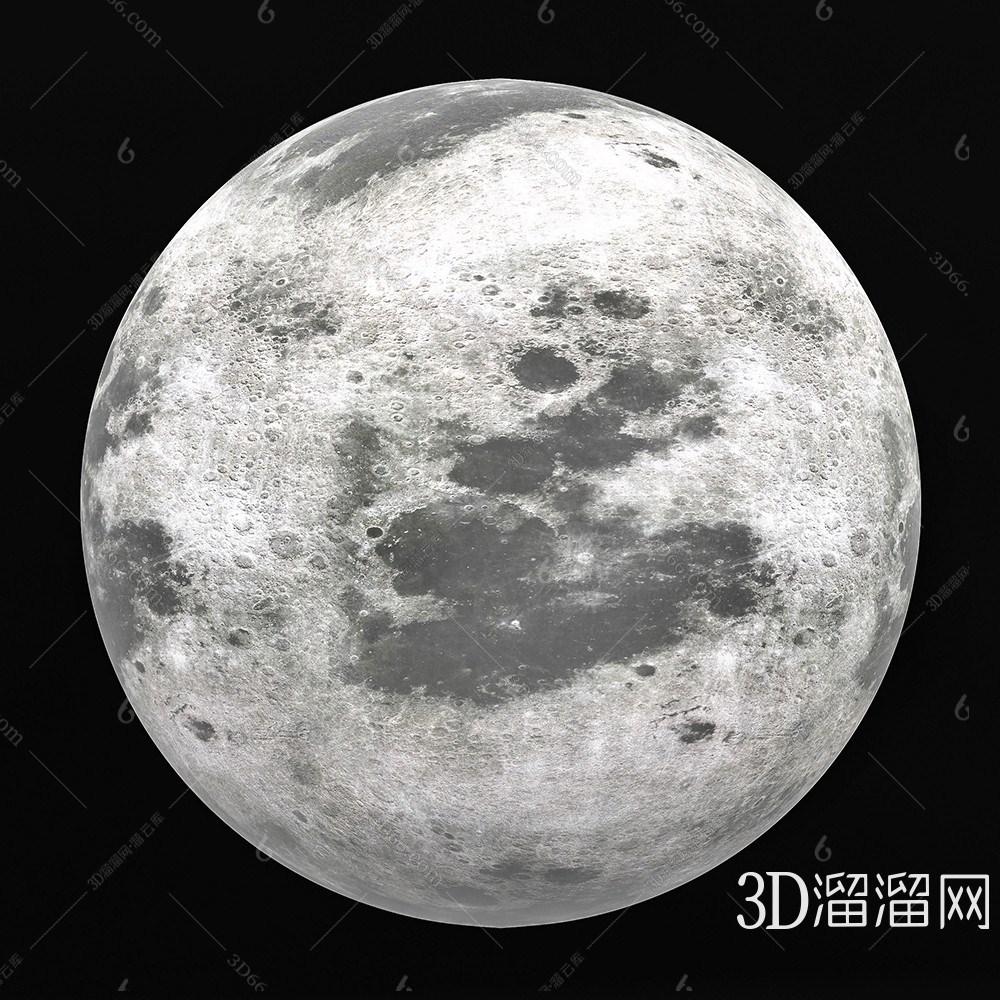 现代美丽的月球3D模型下载