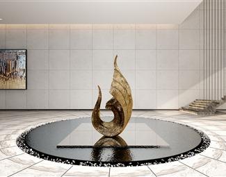 现代抽象雕塑3d模型3D模型下载