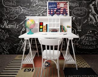 现代个性桌椅3D模型下载