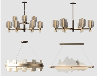 轻奢吊灯3D模型