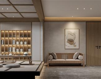 日式茶室3D模型