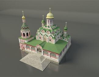 欧式古堡3D模型下载