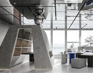 侘寂休闲区3D模型