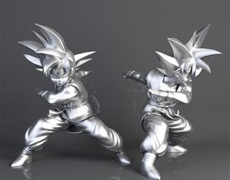 现代游戏角色人物模型3D模型下载