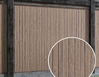 1木拼板Vray材质