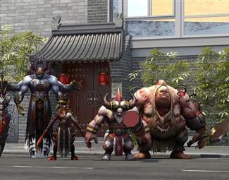现代卡通游戏人物3D模型下载