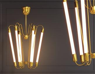 轻奢灯具电器设备3D模型下载