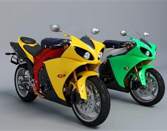 现代创意摩托车3D模型下载