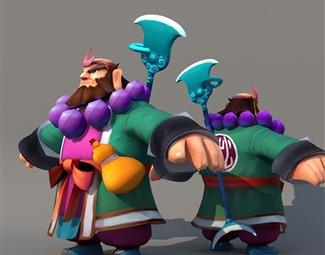 现代游戏人物模型3D模型下载