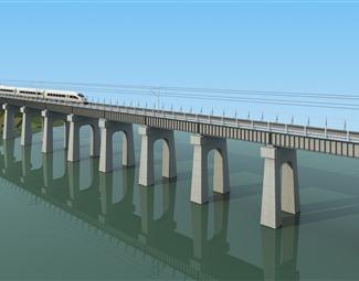 现代交通桥梁3D模型下载