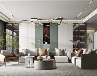 轻奢客厅3D模型