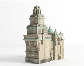 欧式别墅3D模型下载