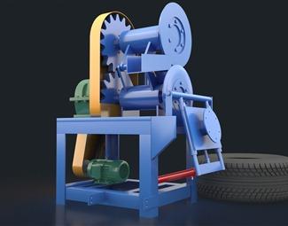 现代工业设备模型3D模型下载